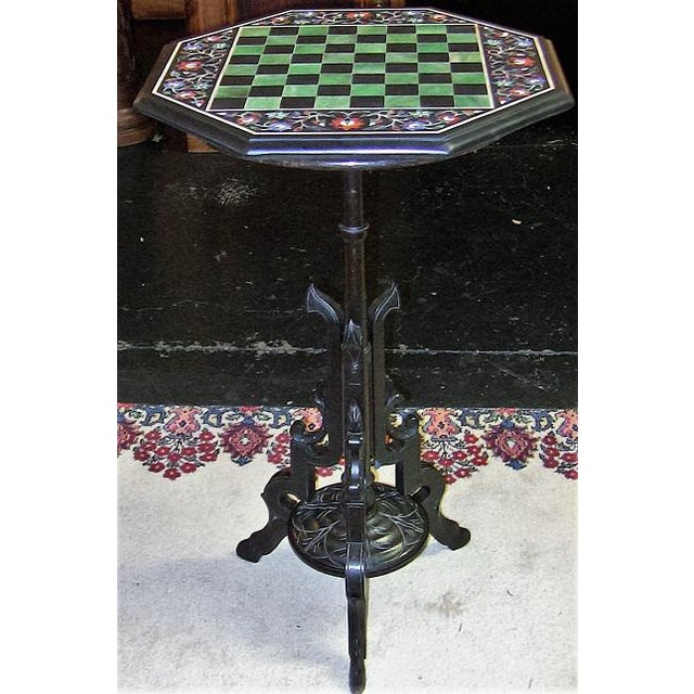 Pietra Dura Chess Board Marble Table For Sale - Image 9 of 9