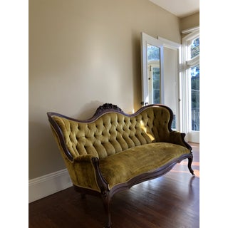 Late 19th Century Antique J. H. Belter Gold Rosalie Sofa With Preview