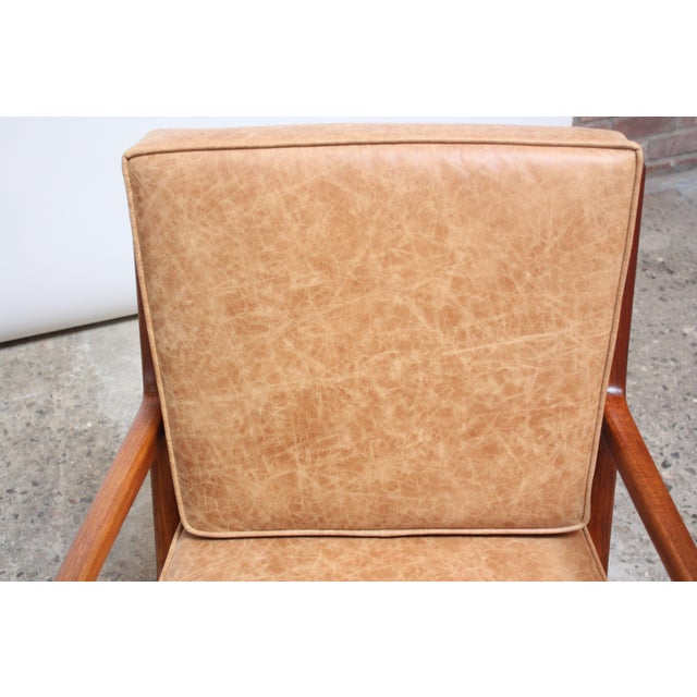 Brown Italian Modern Carlo De Carli Walnut and Leather Lounge Chair and Ottoman For Sale - Image 8 of 13