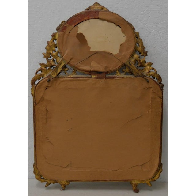 Black Early 19th Century Painted & Gilt Frame Mirror For Sale - Image 8 of 9
