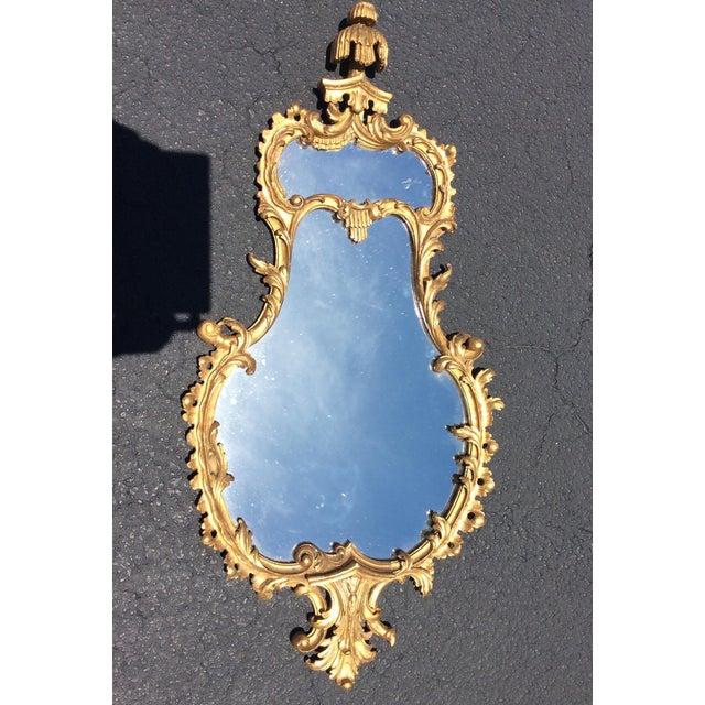 Mid 19th Century 19th Century Italian Gilt Wood Mirror For Sale - Image 5 of 6