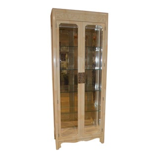 Henredon Asian Influenced Transitional Two Door Curio Cabinet For Sale