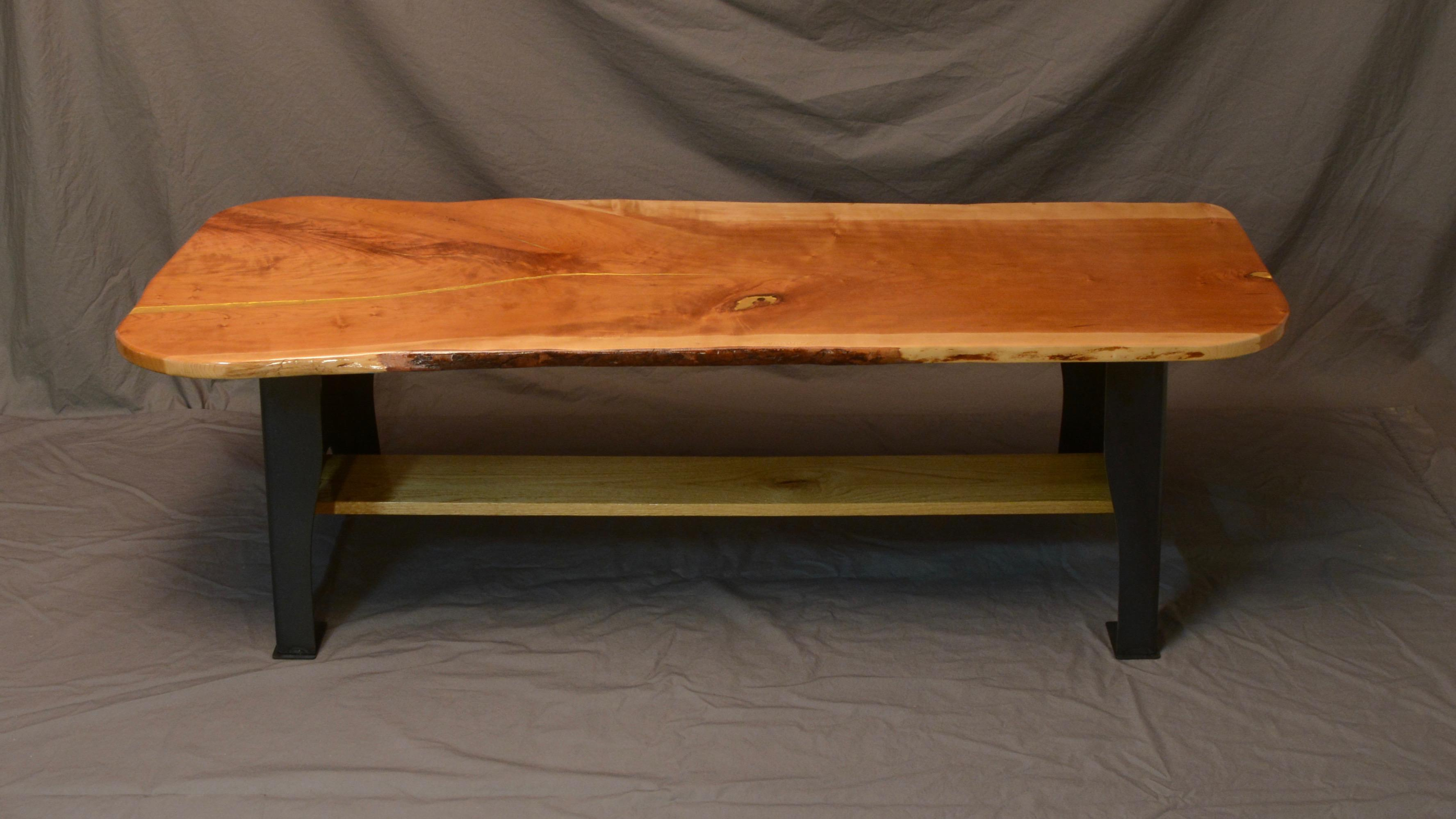 Live Edge Cherry Wood Coffee Table Chairish