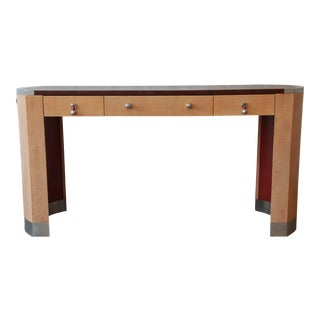 David Easton for Henredon Modern Art Deco Leather Top Desk