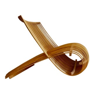 Marc Newson Modern Wood Lounge Chair 1990's For Sale