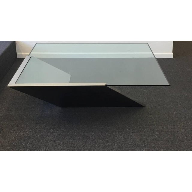 Brushed Stainless Steel and Glass Cocktail Table by Brueton - Image 4 of 9