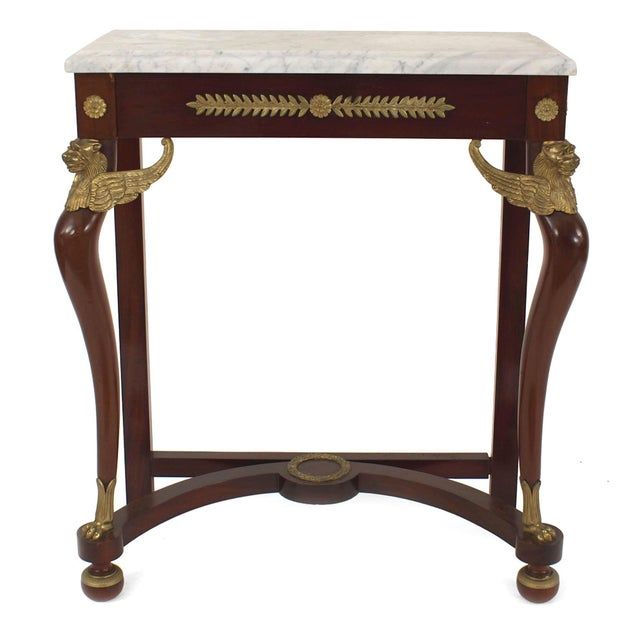 French Empire Style '19th-20th Century Console Table For Sale - Image 4 of 4