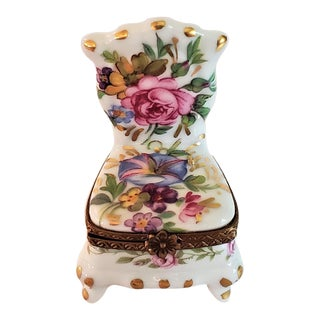 Vintage Limoges Chair Ring Box For Sale