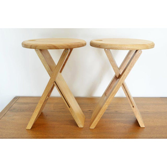 Roger Tallon Pair of Foldable Stools by Roger Tallon, 1970 For Sale - Image 4 of 5