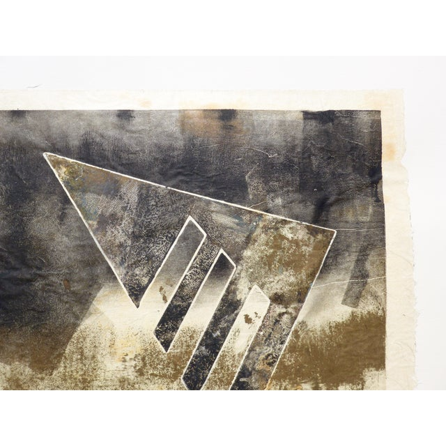 Black and Gold Mono Print by Martha Holden - Image 2 of 3