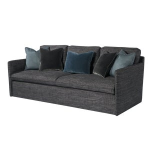 Contemporary Charcoal Gray Sofa For Sale