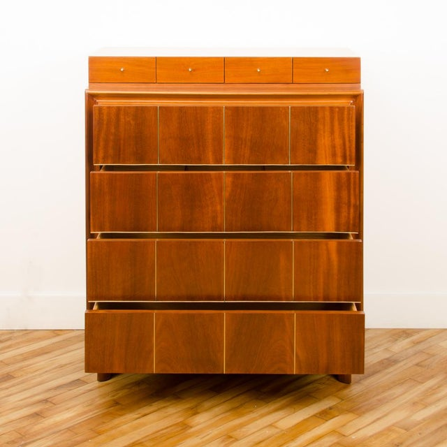 1960s Mid-Century Modern American of Martinsville Walnut Chest For Sale - Image 11 of 12
