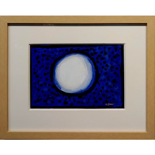 Conrad Buff - Snowball over a Deep Blue - Modernist Oil painting post Impressionist - oil painting on cardboard -signed...