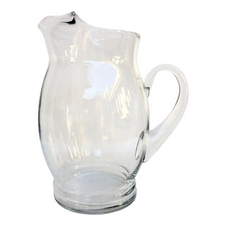 Vintage Glass Pitcher For Sale