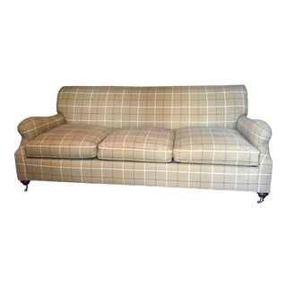 Theodore Alexander Plaid 3-Cushion Sofa For Sale