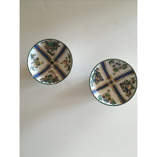 1960's Enamel Taper Candle Holders - A Pair - Image 2 of 4
