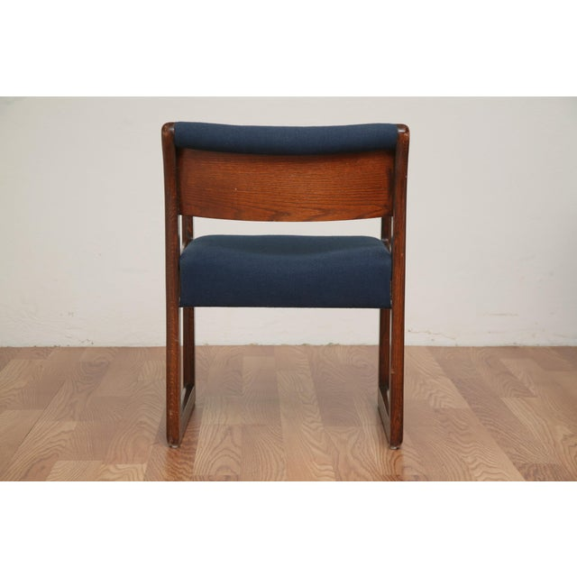 1970s Vintage 1970s Mid-Century Modern Wooden Chair For Sale - Image 5 of 11