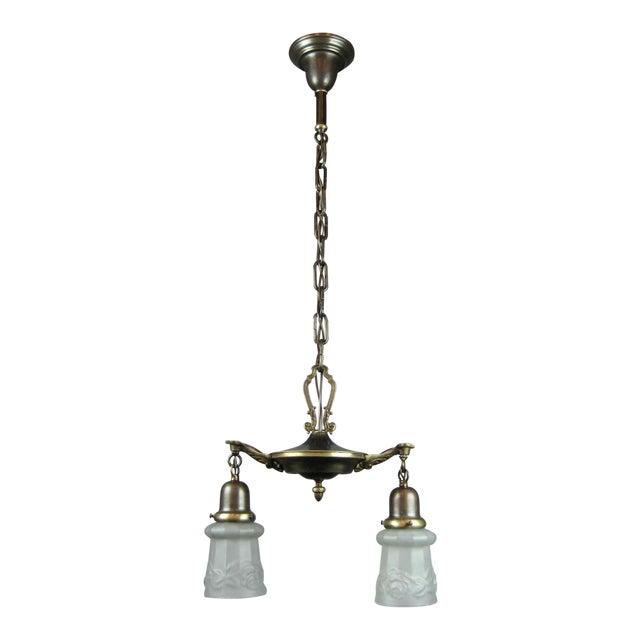Original Pan Light Fixture (2-Light) - Image 1 of 9