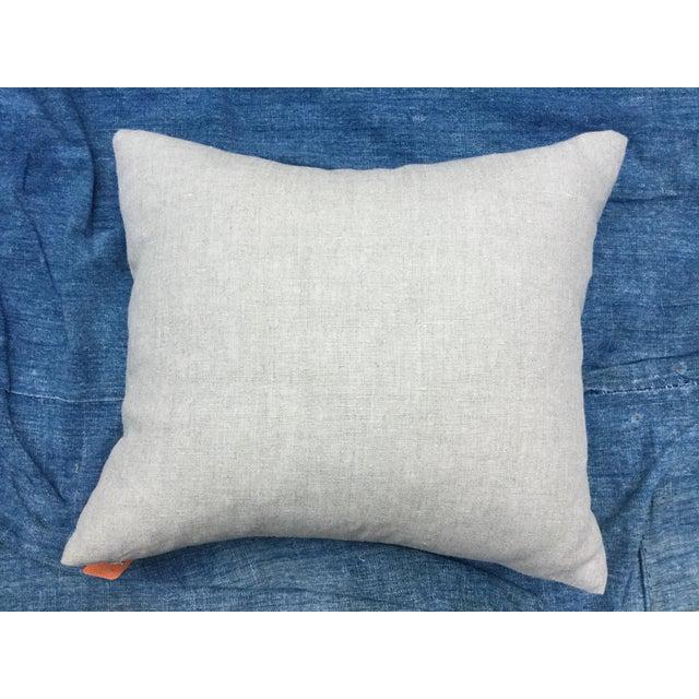Silver Cross Linen Batik Pillow - Image 6 of 6