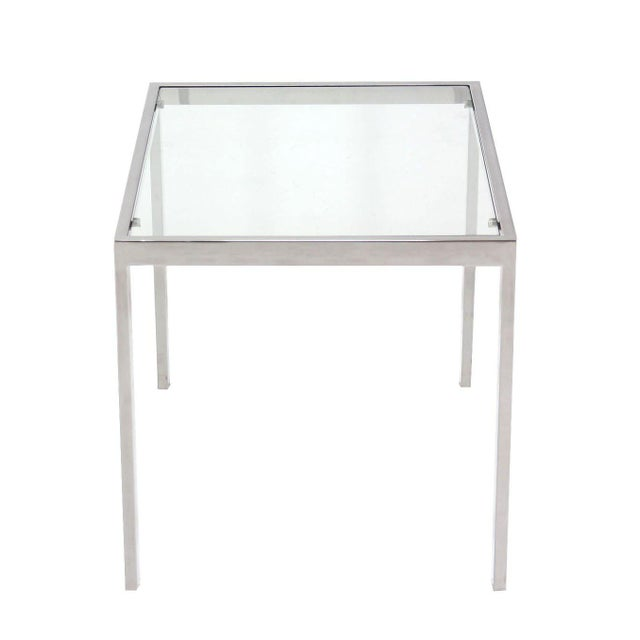 Early 20th Century Chrome and Glass Mid-Century Modern Side Table For Sale - Image 5 of 5