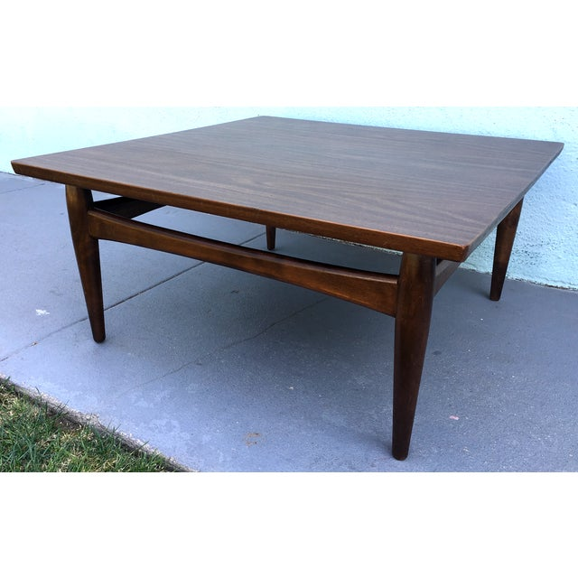 Square Mid-Century Modern Coffee Table - Image 6 of 7