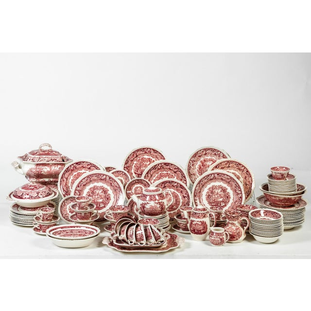 English Chinaware Complete Service For 12 People With Serving Pieces and Lots of Extra. The Set Include 12 Dinner Plates,...