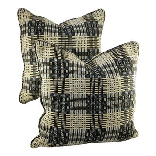 "16"" Square Highland Court Fabric Pillows - a Pair from Kenneth Ludwig Chicago For Sale"