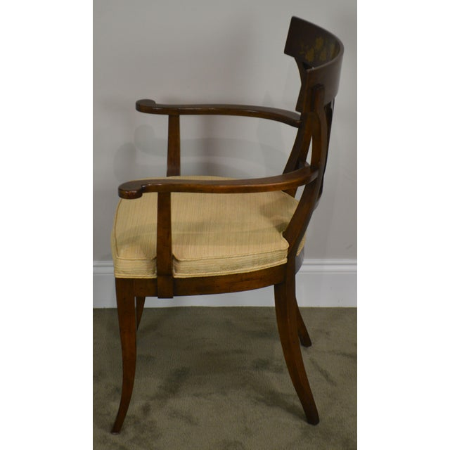 Nahon Custom Quality Set of 8 Regency Style Mahogany Dining Chairs For Sale - Image 4 of 13