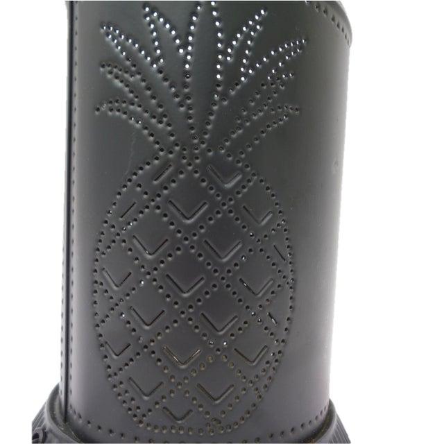 Black Steel Pineapple Table Lamp - Image 6 of 6
