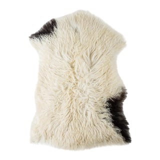 "Contemporary Long Wool Sheepskin Pelt/Handmade Rug - 2'0""x3'0"" For Sale"