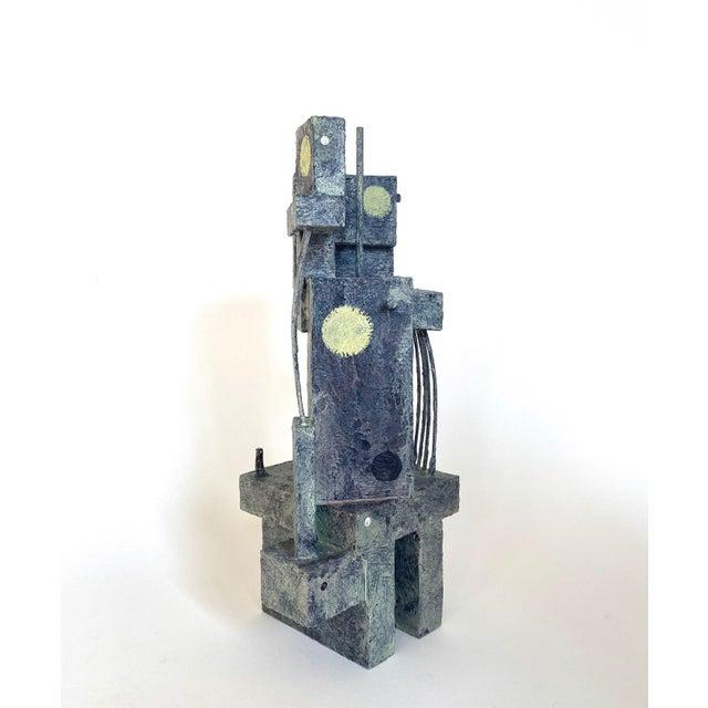 Mid-Century Modernist / Cubist Sculpture For Sale - Image 4 of 6