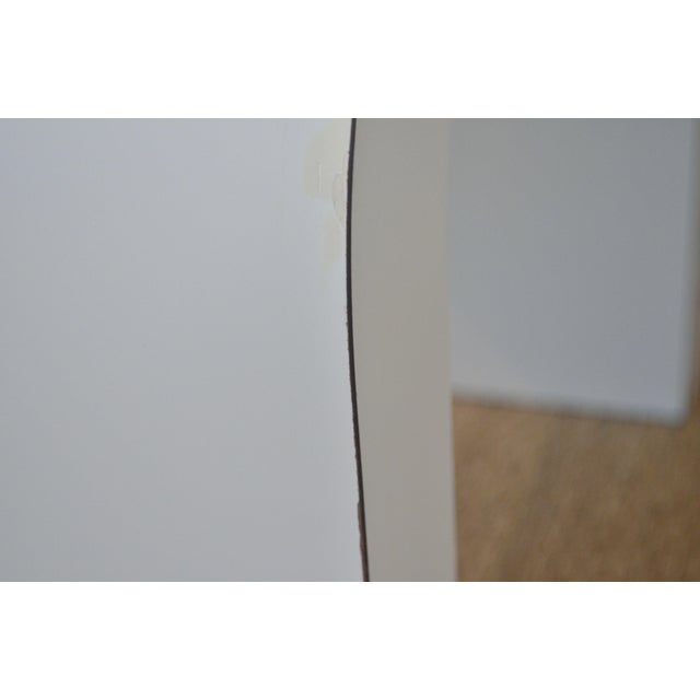 White Laminate Waterfall Table For Sale - Image 5 of 7