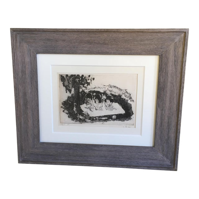Shirley R Taylor Abstract Etching - Image 1 of 11