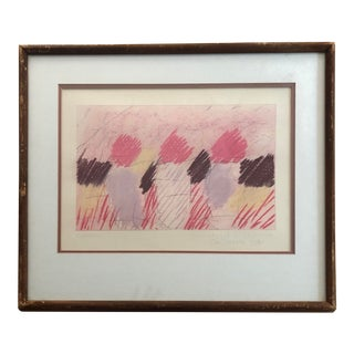 VIntage Abstract Pastel Art 1981 For Sale