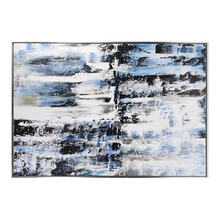 Kenneth Ludwig Black & White Abstract Painting For Sale