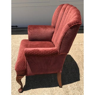 Vintage Velvet Tufted Wingback Chair Preview