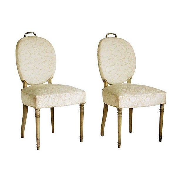Edwardian Brass Rope Handle Chairs - A Pair - Image 4 of 7