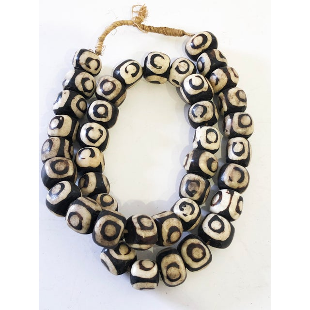 """White African Jumbo Bone Trading Beads 30"""" For Sale - Image 8 of 8"""