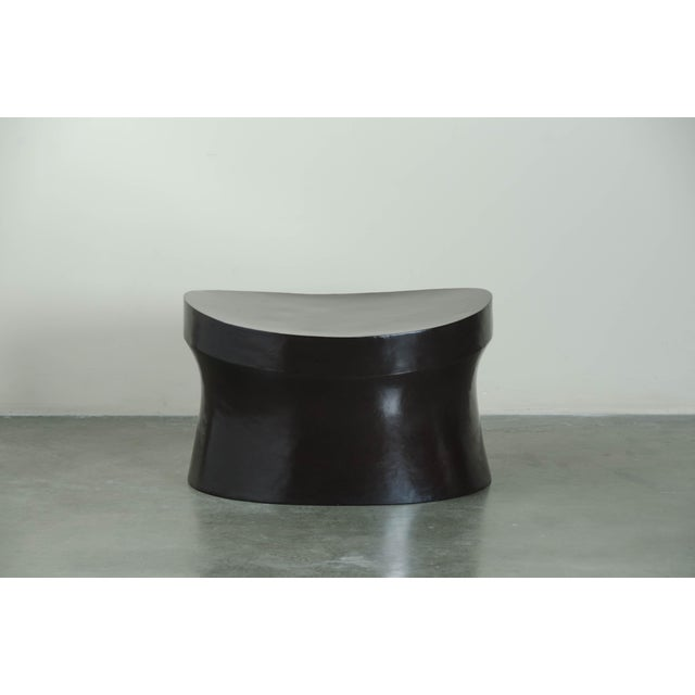2010s Black Copper Saddle Seat Hand Repousse Drumstool by Robert Kuo, Limited Edition For Sale - Image 5 of 5