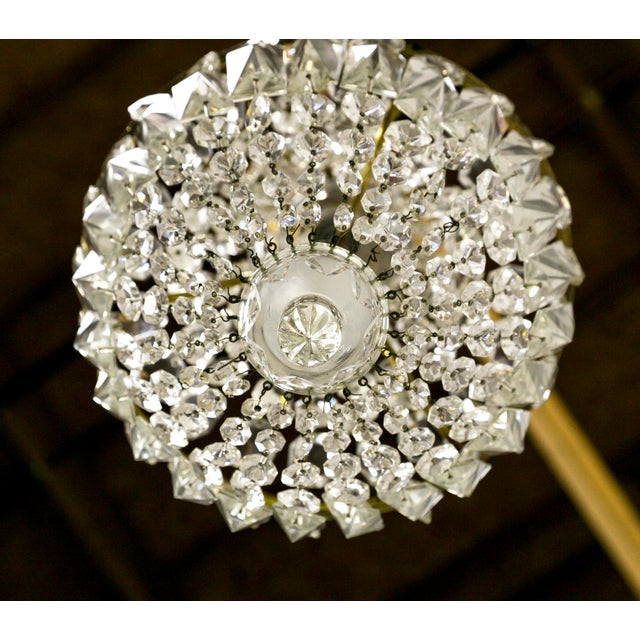 Gold Petite Crystal Basket Chandeliers (Pair) For Sale - Image 8 of 10