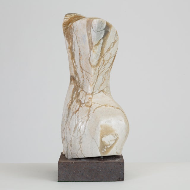 Abstract Torso Sculpture on Stone Mount For Sale - Image 4 of 12