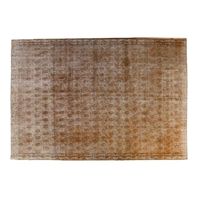 """Distressed Vintage Khorassan Carpet - 7'10"""" x 11'3"""" - Image 1 of 7"""