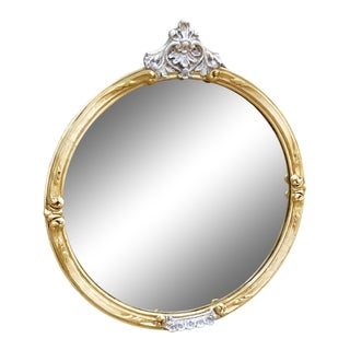 Victorian Round Wall Mirror For Sale