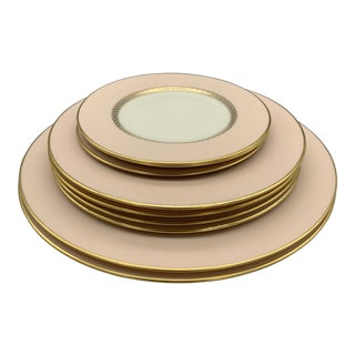 Lenox China's Caribbee Dinner, Salad and Bread Plates Set - 9 Pieces For Sale