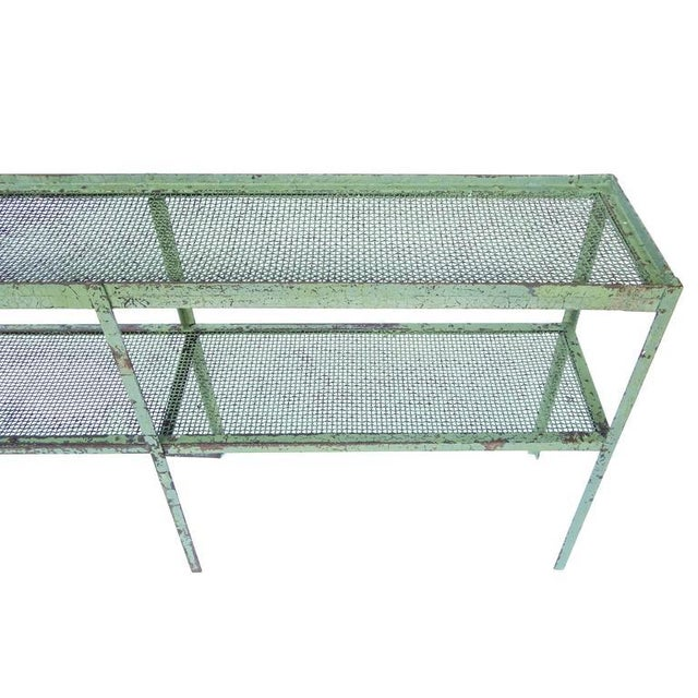 Long Narrow Industrial Mesh Console - Image 8 of 11