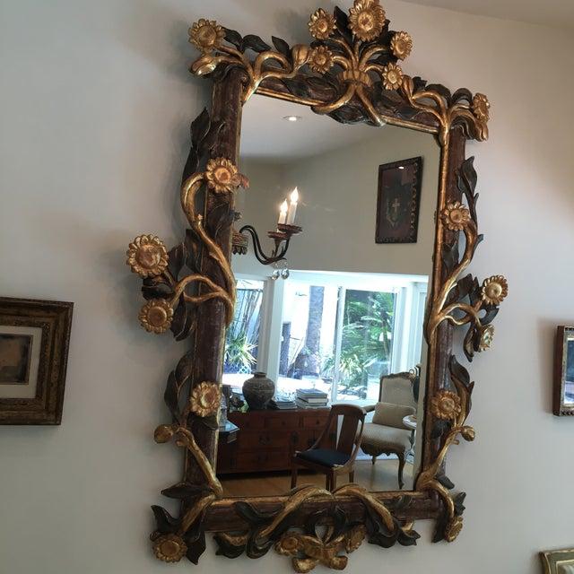 Gilt Italian Sunflower Mirror For Sale - Image 9 of 10