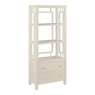 Devon Bookcase, Revere Pewter For Sale