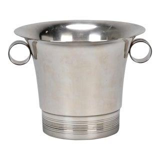 Mid-Century Silver Plate Wine Cooler or Ice Bucket
