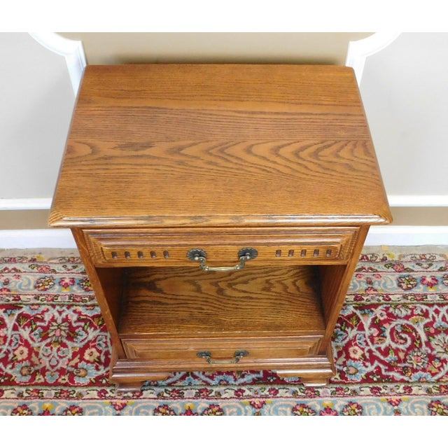 Davis Cabinet Company Vintage Davis Cabinet Co. Oak Nightstand For Sale - Image 4 of 6