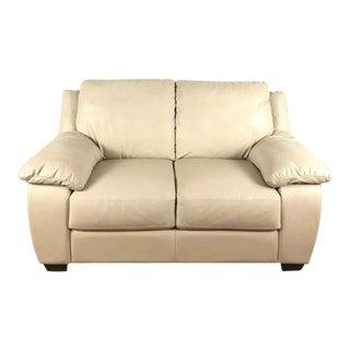Italsofa Cream Leather Sofa